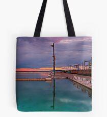 Poles, Sunset, Ocean Baths, Paradise Tote Bag