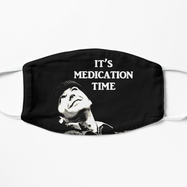 Medication Time (for dark background) Flat Mask