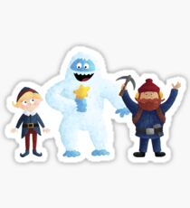 Yukon, Hermey and the Bumble in Teal Sticker