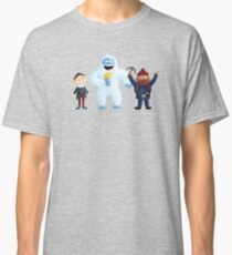 Yukon, Hermey and the Bumble in Teal Classic T-Shirt