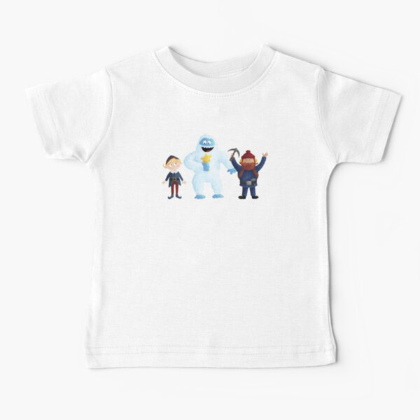Yukon, Hermey and the Bumble in Teal Baby T-Shirt