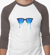 Abstract Polygon Multi Color Cubizm Painting in ice blue T-Shirt