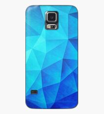 Abstract Polygon Multi Color Cubizm Painting in ice blue Case/Skin for Samsung Galaxy