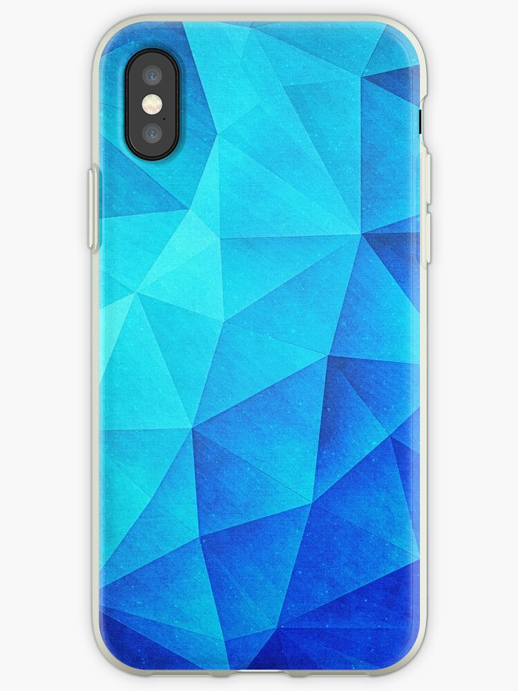 best loved 51a8d 5d730 'Abstract Polygon Multi Color Cubizm Painting in ice blue' iPhone Case by  badbugs