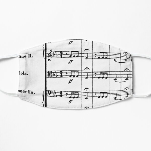 Beethoven's 5th Symphony Flat Mask