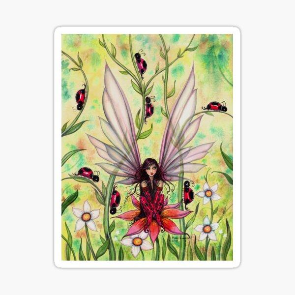 Ladybug Fairy Fantasy Illustration Sticker