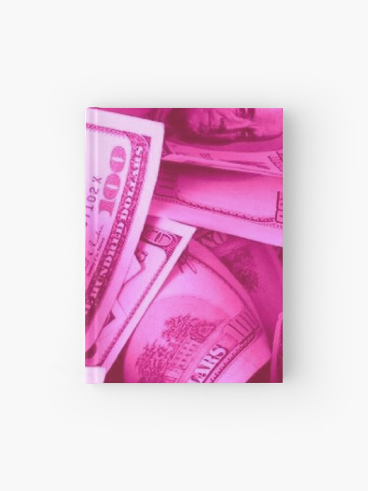pink y2k money aesthetic hardcover journal by elinguinness redbubble redbubble