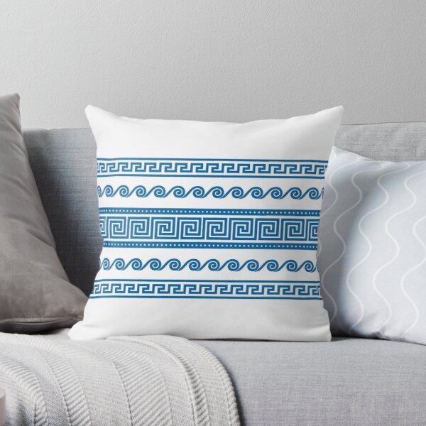 Ancient Greek Shapes Throw Pillow