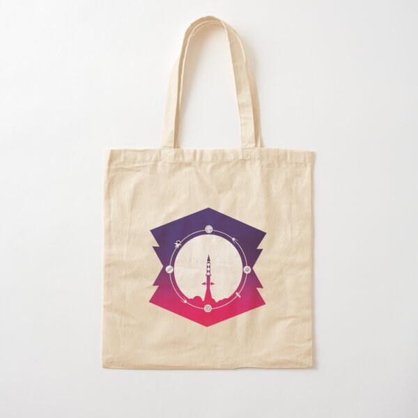 Traveling To The Moon Cotton Tote Bag