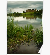 Linlithgow Loch & palace longexposure. Poster