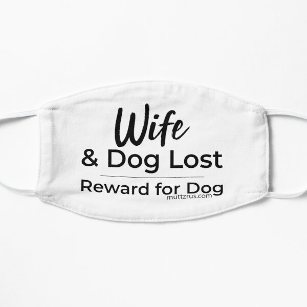 Wife and Dog Black Text Mask