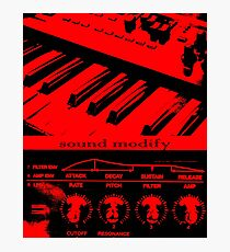 Synth Keyboard Sound Modify Photographic Print