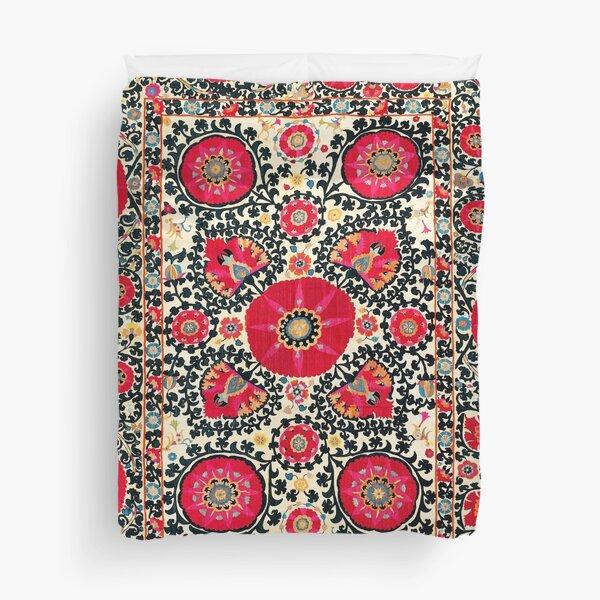 Shakhrisyabz Suzani Uzbek Embroidery Print Duvet Cover