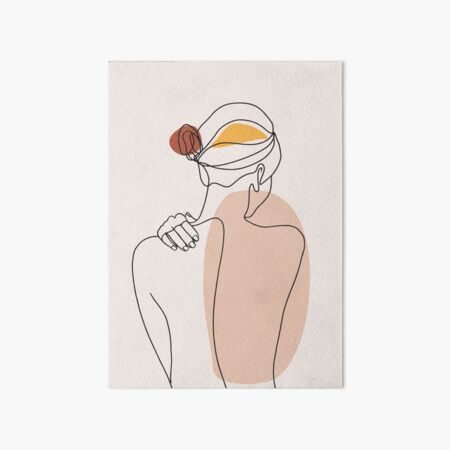 Nude figure illustration Art Board Print