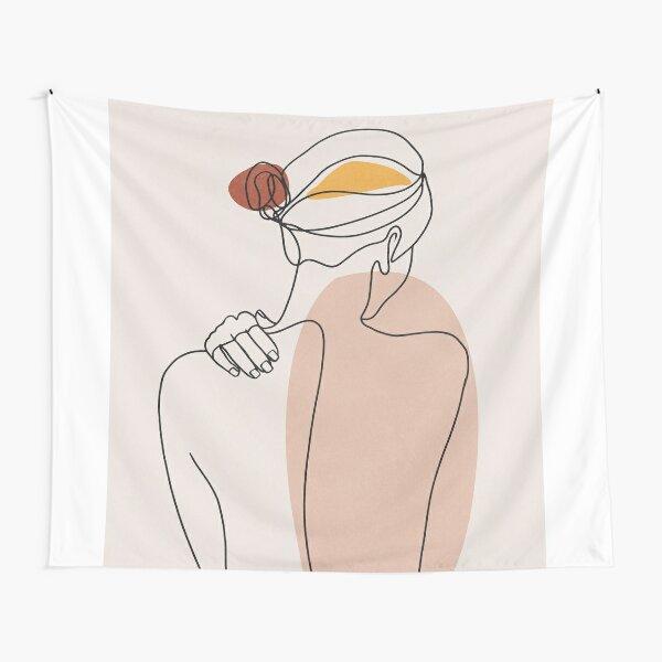 Nude figure illustration Tapestry