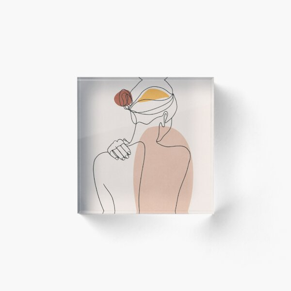 Nude figure illustration Acrylic Block