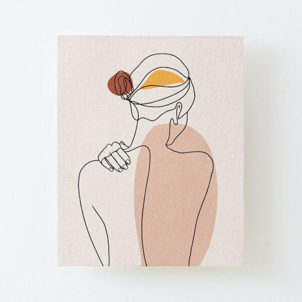 Nude figure illustration Canvas Mounted Print