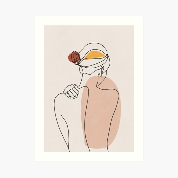 Nude figure illustration Art Print
