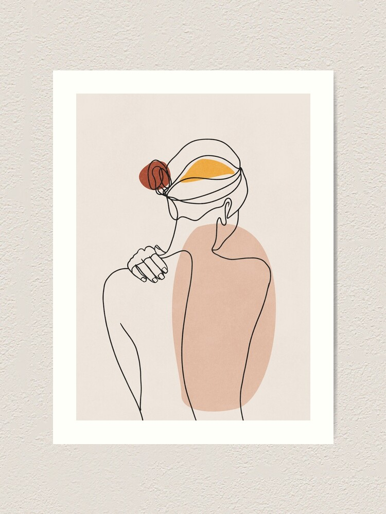 Alternate view of Nude figure illustration Art Print