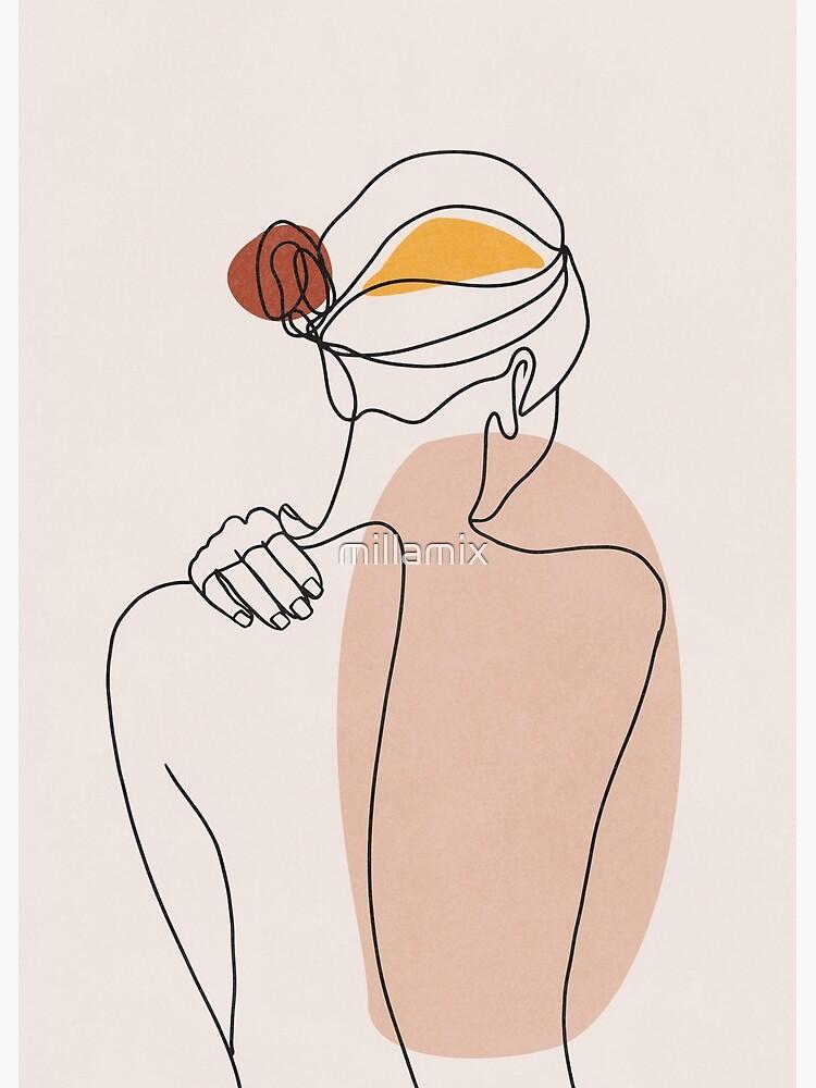 Nude figure illustration by millamix