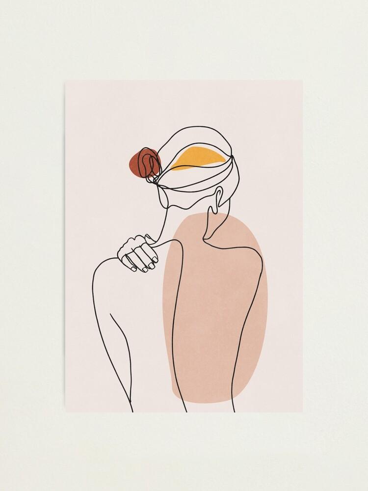 Alternate view of Nude figure illustration Photographic Print