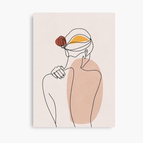 Nude figure illustration Canvas Print