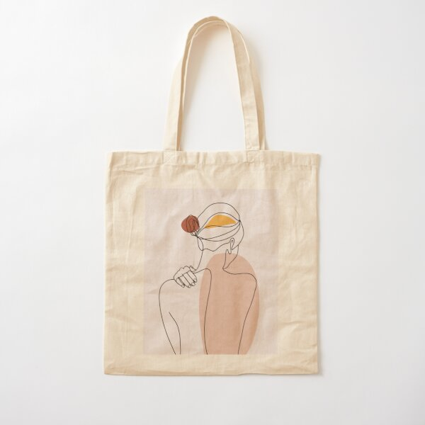 Nude figure illustration Cotton Tote Bag