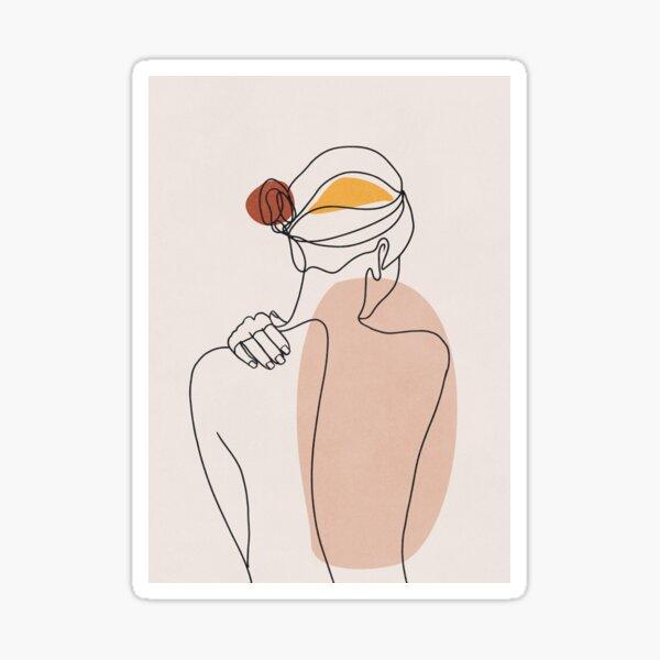 Nude figure illustration Sticker