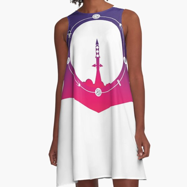 Traveling To The Moon A-Line Dress