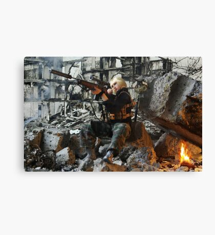 Grozny march 2005 Canvas Print