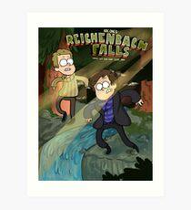 Reichenbach Falls Art Print
