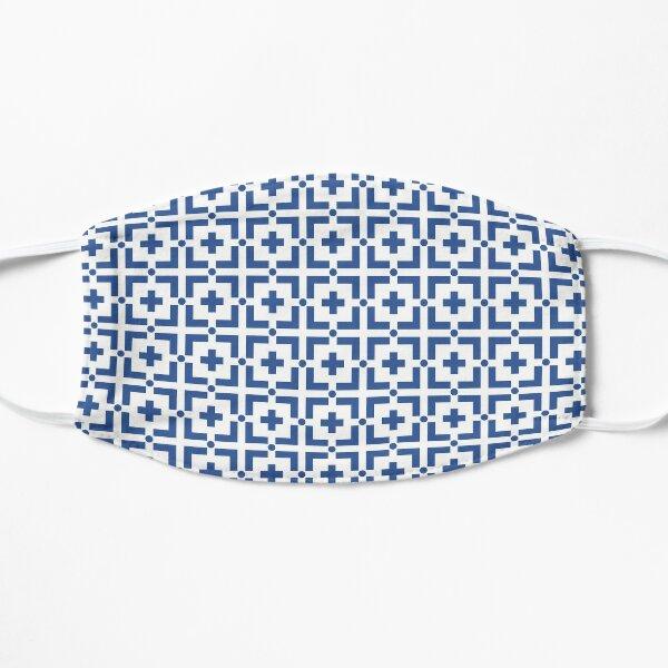 Blue Cross on White Flat Mask