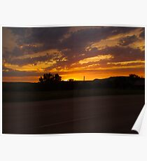 Sunset Along the Deadwood Highway Poster