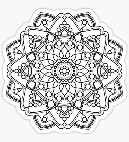 Bubbly Mandala Sticker
