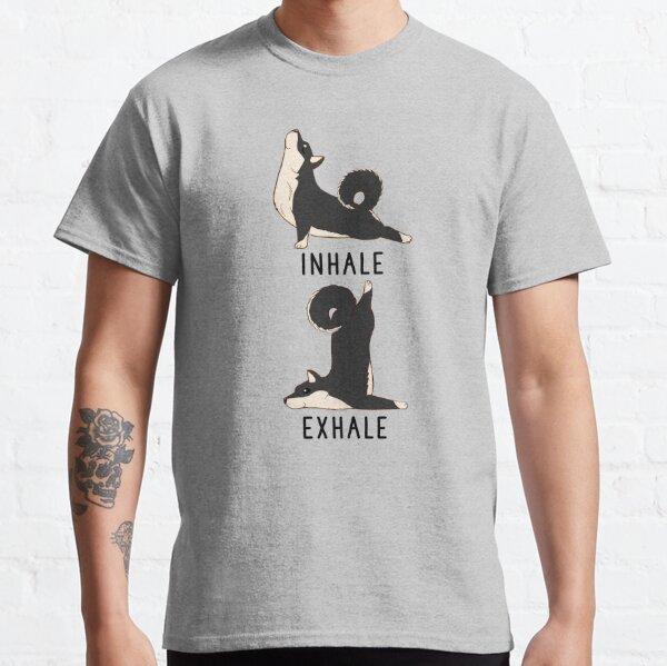 Inhale Exhale Black and Tan Shiba Inu Yoga Classic T-Shirt