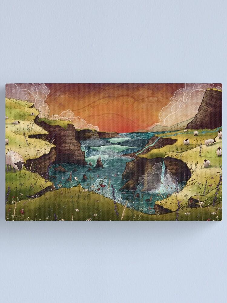 Alternate view of Ireland Ocean Landscape Canvas Print