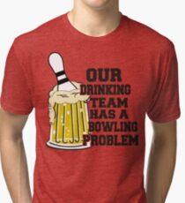 Funny Bowling Team T-Shirt Tri-blend T-Shirt