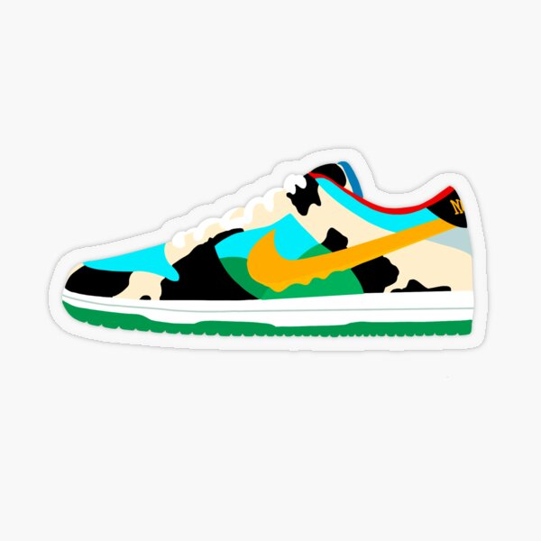 dunk low chunky dunky Transparent Sticker
