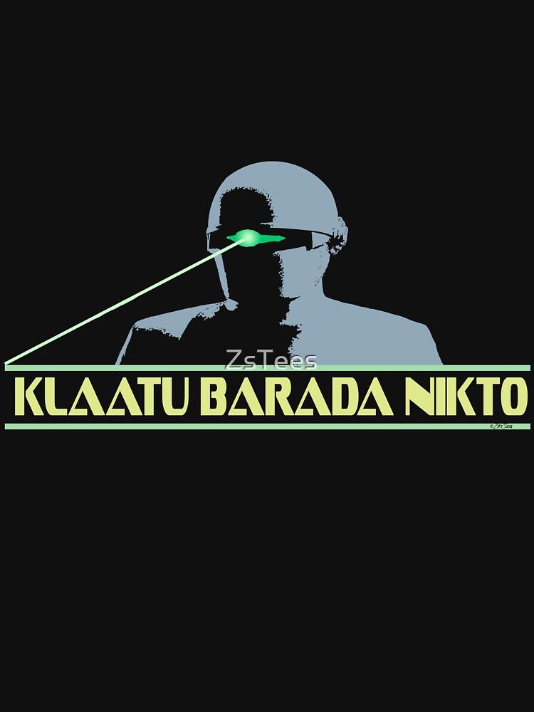 TShirtGifter presents: Klaatu Barada Nikto   Unisex T-Shirt