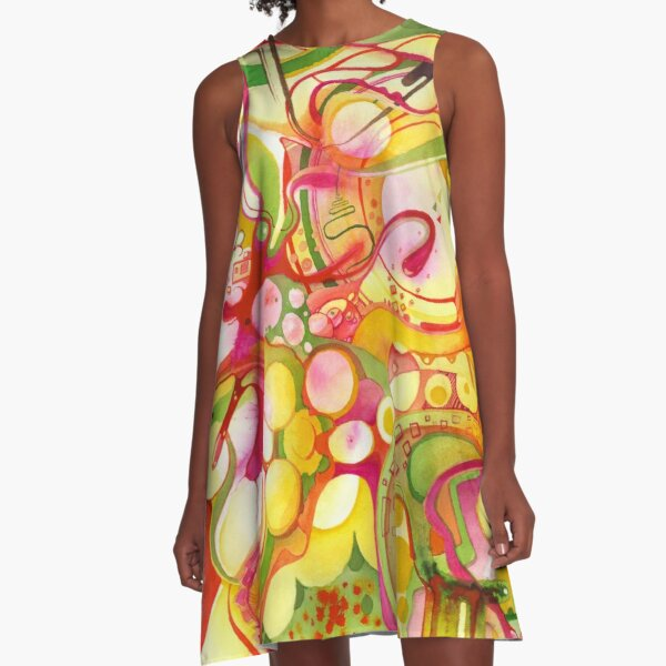 Sunlight Is Free (If You Live At The Top) - Watercolor Art A-Line Dress