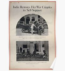 India restores her war cripples to self support Poster