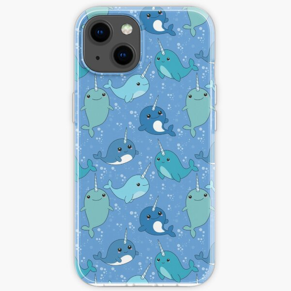 Narwhal Pattern iPhone Soft Case