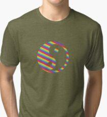 rainbow yin yang Tri-blend T-Shirt