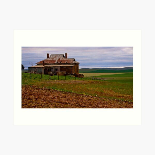 South Burra Homestead and Fields Art Print
