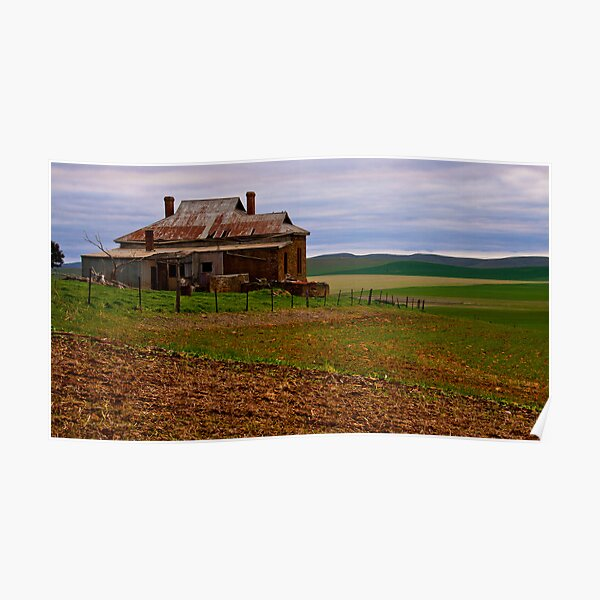 South Burra Homestead and Fields Poster