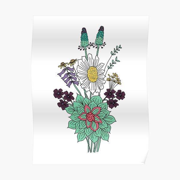 Spring floral bouquet  Poster