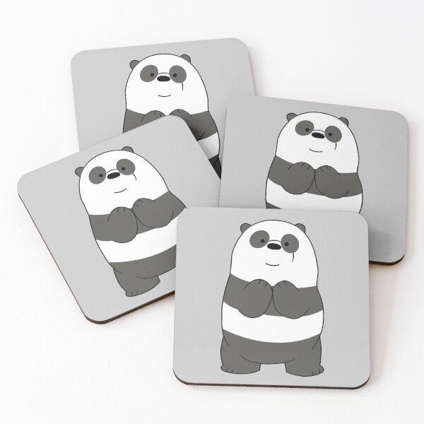 We bare bears Panda bear Coasters (Set of 4)