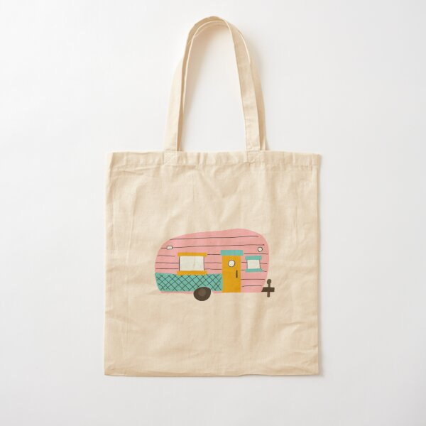 Let's go glamping  Cotton Tote Bag