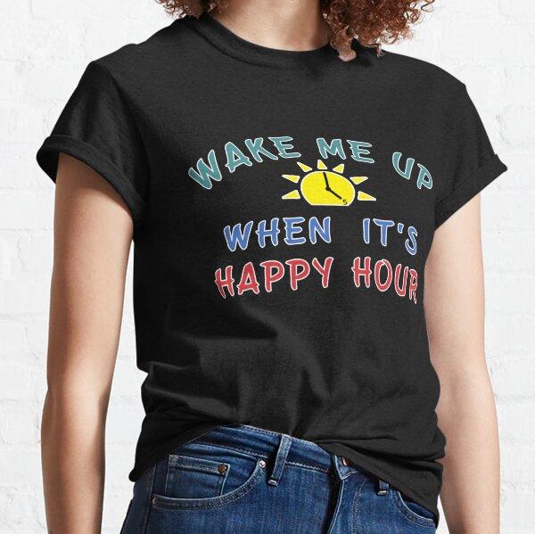 Happy Hour Moonshine Libation Liquor Mixologist. Classic T-Shirt