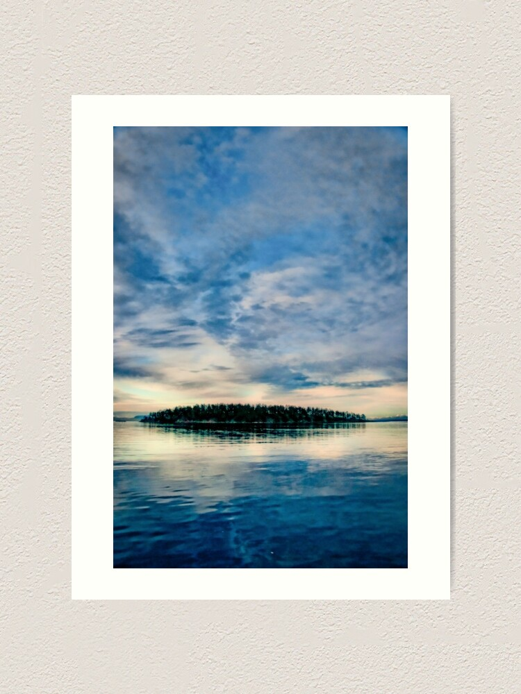 Alternate view of Georgeson Island at Sunset Art Print